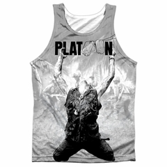 Platoon Grayscale Poster Sublimation Tanktop