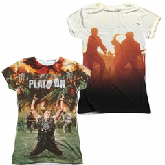 Platoon Key Art Sublimation Juniors Shirt Front/Back Print