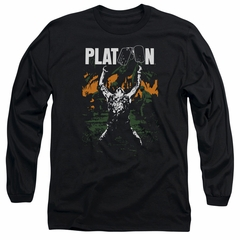 Platoon Long Sleeve Shirt Graphic Black Tee T-Shirt