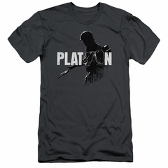 Platoon Slim Fit Shirt Shadow Of War Charcoal T-Shirt