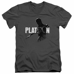 Platoon Slim Fit V-Neck Shirt Shadow Of War Charcoal T-Shirt