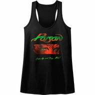 Poison Juniors Tank Top Open Up And Say Ahh Black Racerback