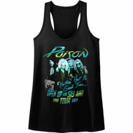Poison Juniors Tank Top Open Up And Say Ahh Tour Black Racerback
