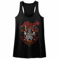 Poison Juniors Tank Top Ride Like The Wind Black Racerback