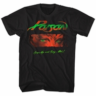 Poison Shirt Open Up And Say Ahh Black T-Shirt