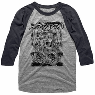 Poison Raglan Skull Snake Lightning Grey/Black Shirt