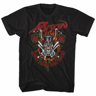 Poison Shirt Ride Like The Wind Black T-Shirt