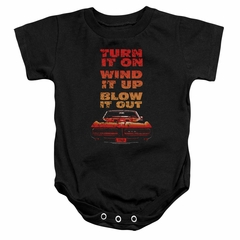 Pontiac Baby Romper Blow It Out GTO Black Infant Babies Creeper