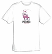 Poodle T-shirt I'm a Proud Owner of a Poodle Pretty in Pink Dog Tee