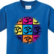 Pop Art Om Kids Yoga Shirts