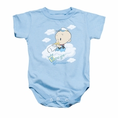 Popeye Baby Romper Baby Clouds Light Blue Infant Babies Creeper