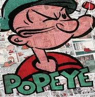Popeye Comic Strip Sublimation Shirts