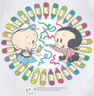 Popeye Fun With Crayons Shirts