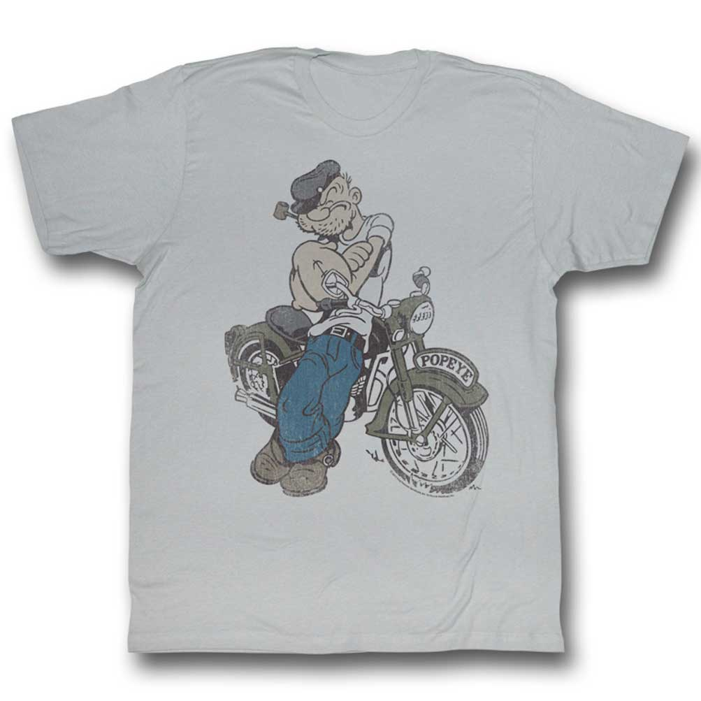 popeye shirt biker popeye silver t shirt popeye shirts. Black Bedroom Furniture Sets. Home Design Ideas