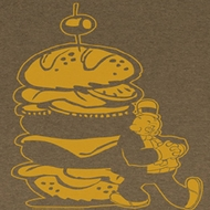 Popeye Shirt Burger For the Boy Adult Brown Heather T-Shirt Tee