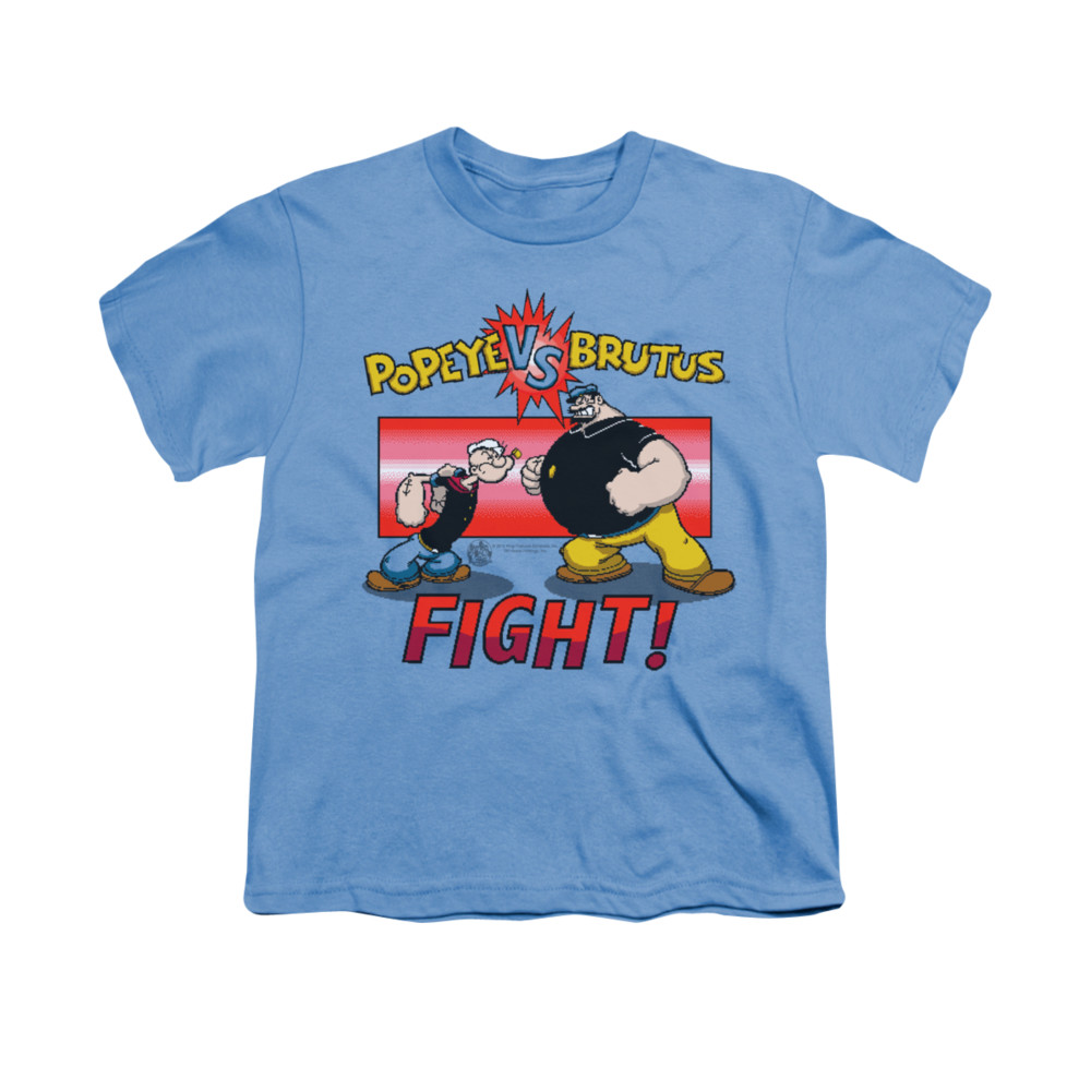 popeye shirt fight kids carolina blue youth tee t shirt. Black Bedroom Furniture Sets. Home Design Ideas
