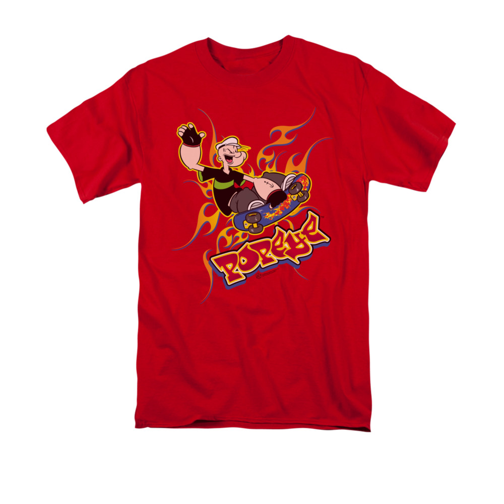 popeye shirt get air adult red tee t shirt popeye get. Black Bedroom Furniture Sets. Home Design Ideas