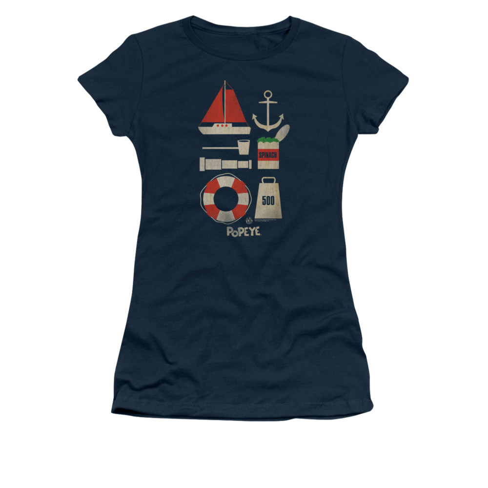 popeye shirt items juniors navy tee t shirt popeye items. Black Bedroom Furniture Sets. Home Design Ideas