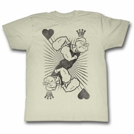 Popeye Shirt King Of Hearts Off White T-Shirt