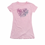 Popeye Shirt Olive Oyl Tattoo Juniors Pink Tee T-Shirt