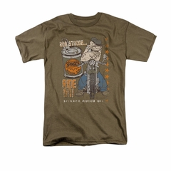 Popeye Shirt Ride On Adult Safari Green Tee T-Shirt