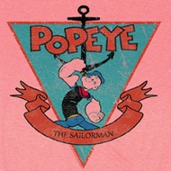 Popeye Shirt Sailorman Triangle Adult Pink T-Shirt Tee