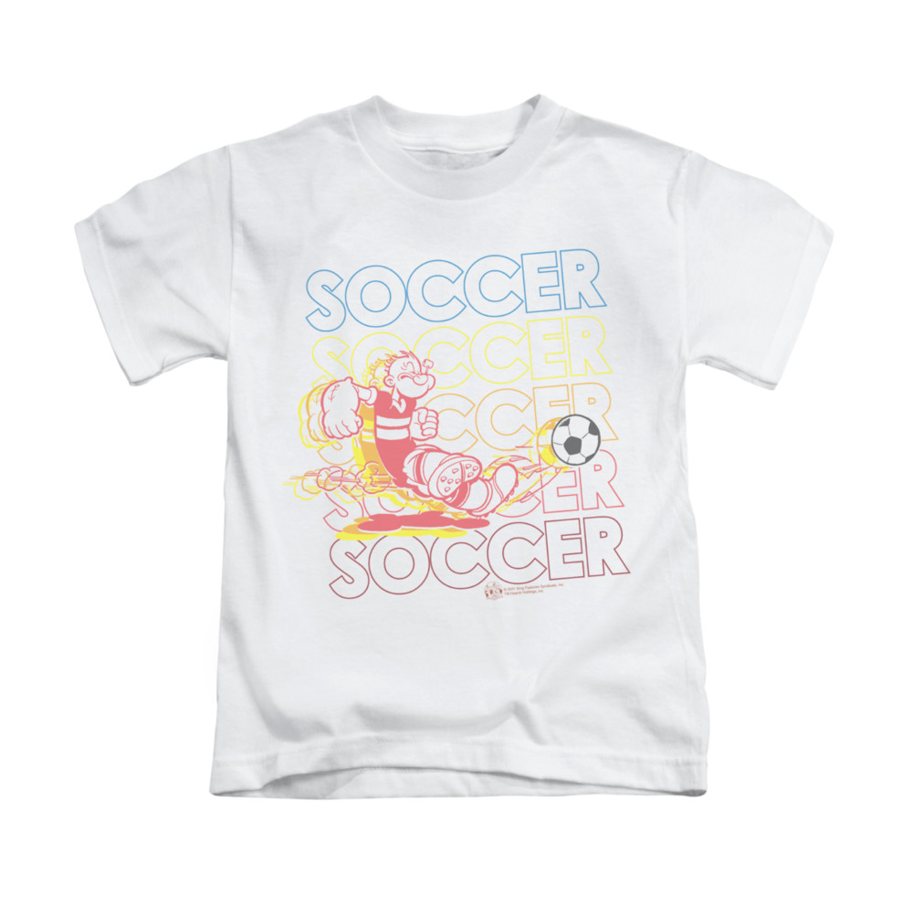 Popeye shirt soccer kids white youth tee t shirt popeye for Boys soccer t shirts