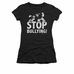 Popeye Shirt Stop Bullying Juniors Black Tee T-Shirt