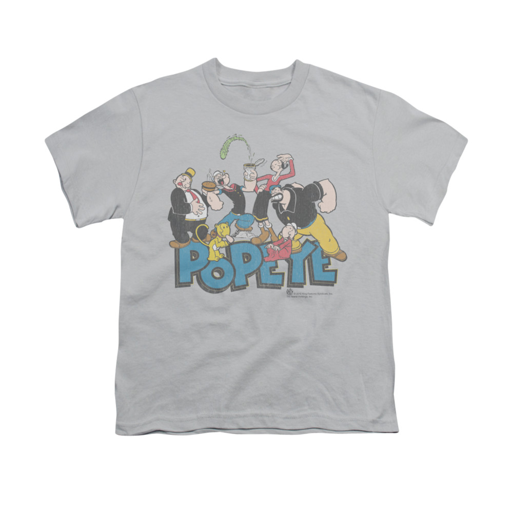 popeye shirt the gang kids silver youth tee t shirt. Black Bedroom Furniture Sets. Home Design Ideas