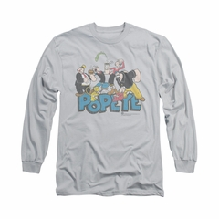 Popeye Shirt The Gang Long Sleeve Silver Tee T-Shirt