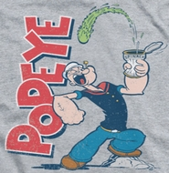 Popeye Spinach Power Ringer Shirts
