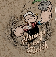 Popeye Strongs To The Finch Sublimation Shirts