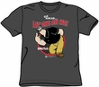 Popeye T-shirt Cartoon Brutus Lay One On Me Adult Charcoal Gray Tee