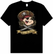 Popeye T-shirt Cartoon Shiver Me Timbers Pirate Adult Black Tee