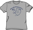 Popeye T-shirt Cartoon Toot! Toot! Heather Gray Adult Tee