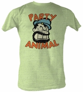 Popeye T-shirt Party Animal Adult Green Heather Tee Shirt