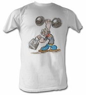 Popeye T shirt Pencil Sketch The Sailorman Adult White Tee Shirt