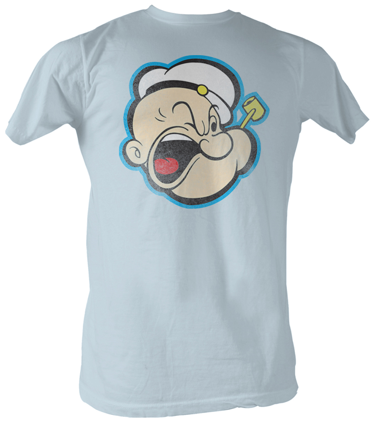 popeye t shirt the sailorman head 2 adult light blue tee. Black Bedroom Furniture Sets. Home Design Ideas