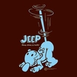 Popeye T-shirt Trouble Funny Jeep Cartoon Adult Brown Tee