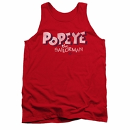 Popeye Tank Top 3D Logo Red Tanktop