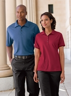 Port Authority Bamboo Polo Shirt Charcoal Birdseye Jacquard Golf Sport
