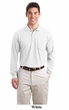 Port Authority Polo Shirt Long Sleeve Silk Touch With Pocket