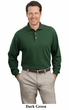 Port Authority Polo Sport Shirt Long Sleeve Pique Knit