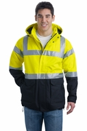 Port Authority Safety Parka Jacket ANSI Class 3 Heavyweight Outerwear