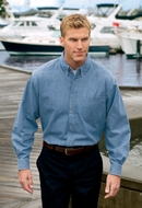 Port & Company Dress Shirt Long Sleeve Value Denim