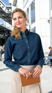 Port & Company Ladies Denim Shirt Long Sleeve Value Blouse