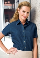 Port & Company Ladies Denim Shirt Short Sleeve Value Tee