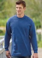 Port & Company Mock Turtleneck Shirt Long Sleeve Tee