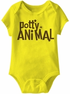 Potty Animal Funny Baby Romper Yellow Infant Babies Creeper