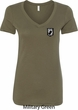 Pow Mia Patch Pocket Print Ladies V-neck